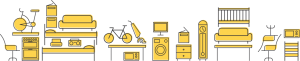 leeds wait and load rubbish removal icons