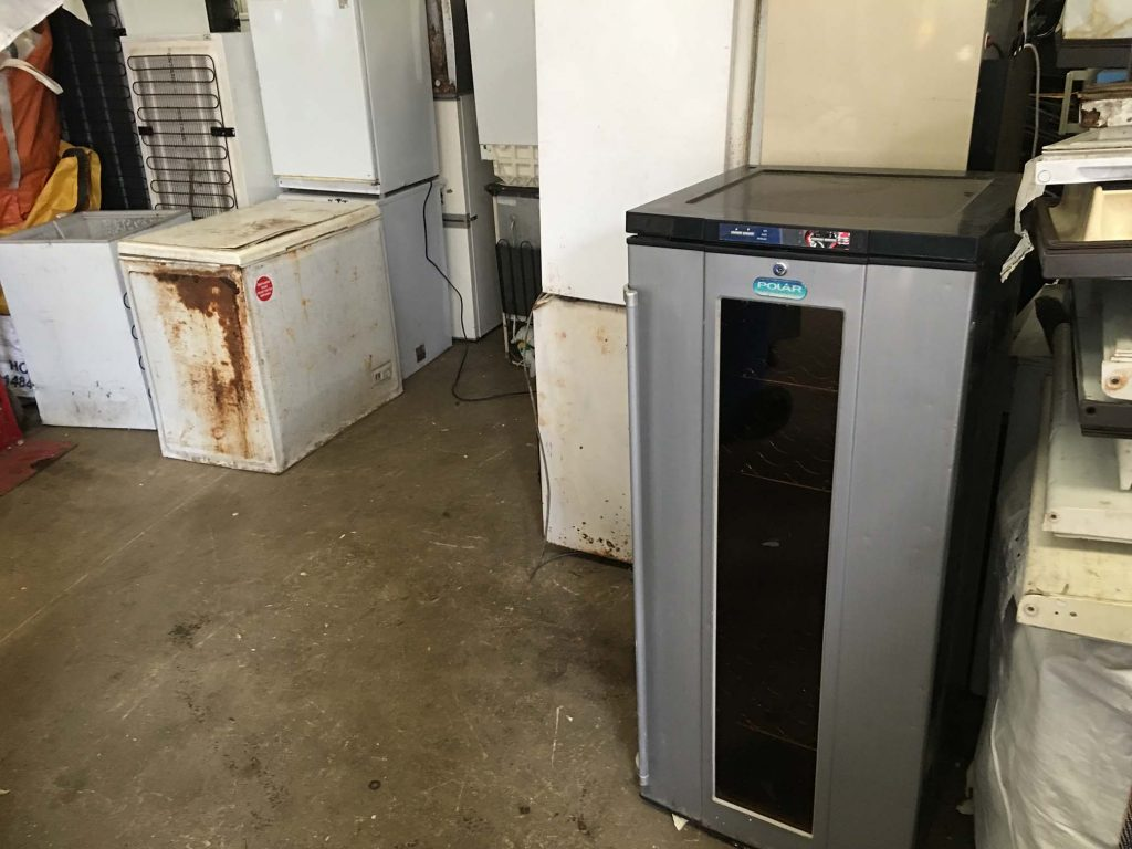 Disused abandoned fridges