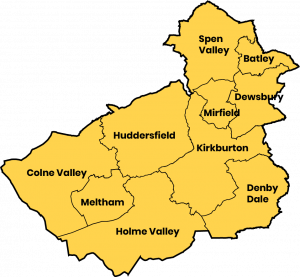 Map Of Kirklees Districts