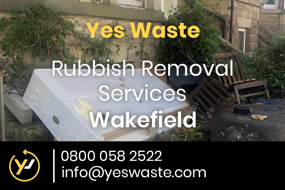 Yes Waste collects piles of rubbish and junk from Wakefield