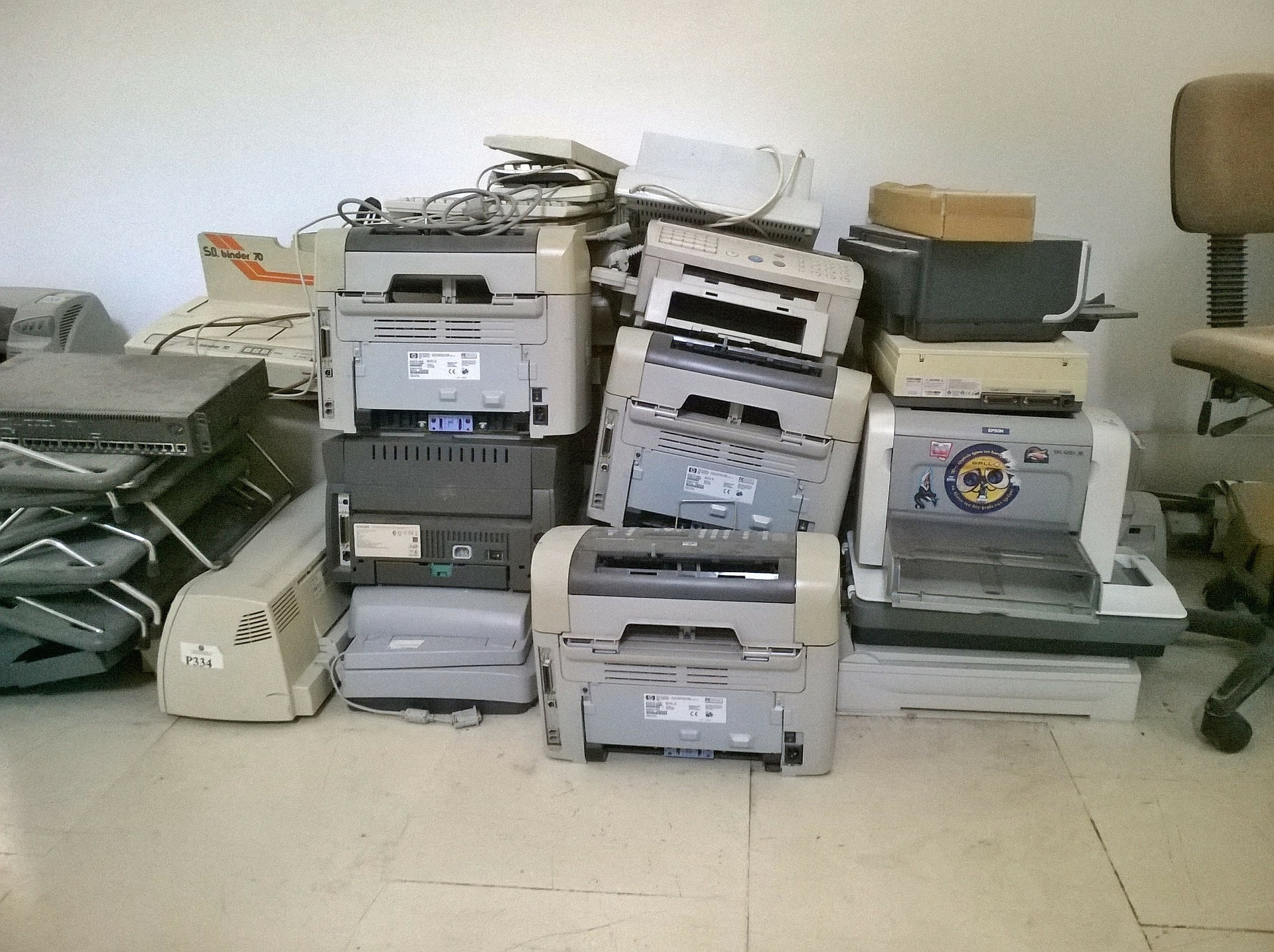 Yes Waste collects broken printers and photocopiers from Yorkshire
